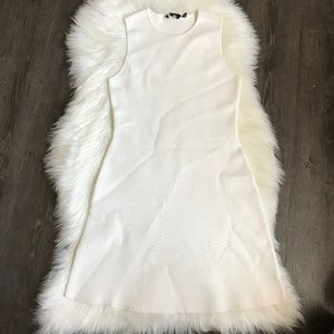 Theory White Textured Dress Size Small